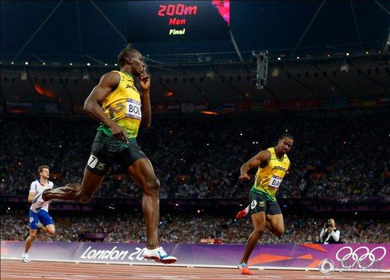 男子200米-博尔特成功卫冕 蝉联双冠王创历史