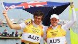 伦敦奥运第205金 49人级男子快速艇 澳大利亚队