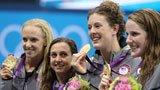 伦敦奥运第131金 女子4X100混合泳美国队