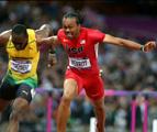 男子110米栏决赛 梅里特12.92秒夺冠罗伯斯退赛