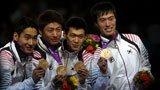 伦敦奥运第108金 男子佩剑团体韩国