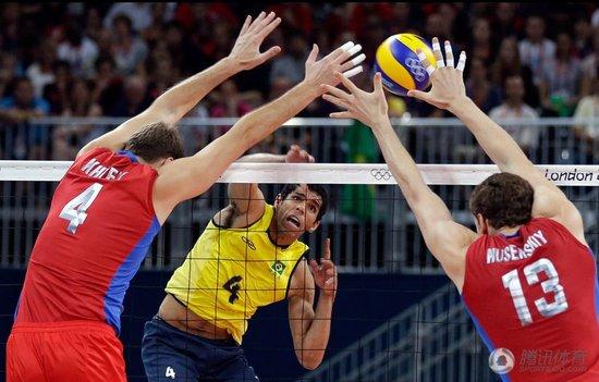 惊天逆转!俄罗斯男排3-2巴西 连追三局获金牌
