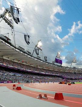 奥运田径比赛360全景图