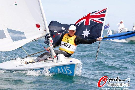 激光级男子单人艇澳洲选手摘金 积分优势明显