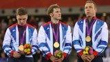 伦敦奥运第86金 场地自行车男子团体 英国队