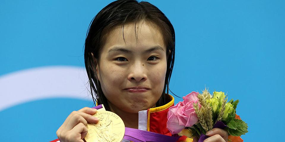 女子单人3米板吴敏霞夺冠