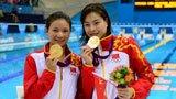 伦敦奥运第15金 女双三米板吴敏霞何姿