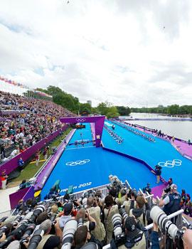 奥运铁人三项比赛360全景图