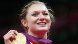 伦敦奥运第123金 女子蹦床罗珊娜
