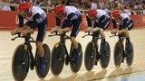 伦敦奥运第104金 场地自行车男团英国队