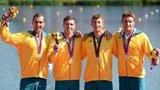 伦敦奥运第218金 男子四人皮艇1000米 澳大利亚队