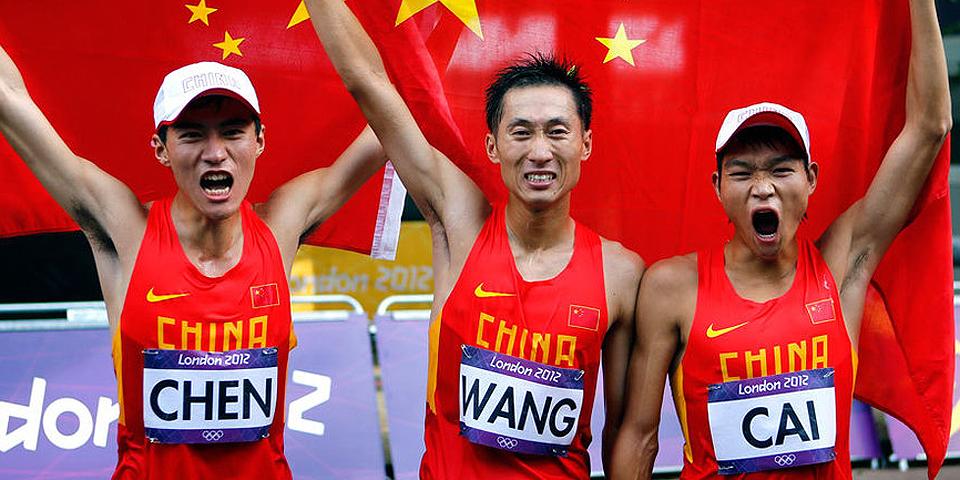 男子20公里竞走陈定夺冠