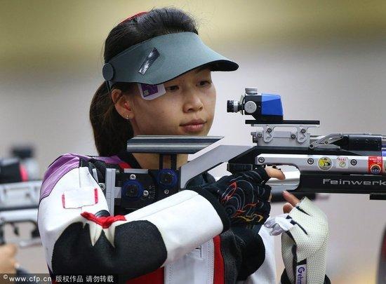 中国首金伦敦首金 10米气步枪易思玲逆转夺冠