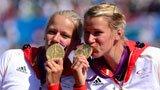 伦敦奥运第220金 女子双人皮艇500米 德国队