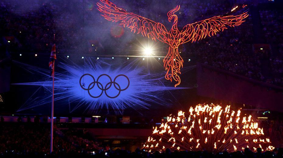 伦敦奥运悄然落幕 凤凰图腾耀眼飞翔