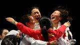 伦敦奥运第130金 女子重剑团体中国队