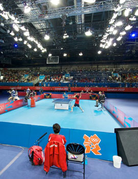 奥运乒乓球比赛360全景图