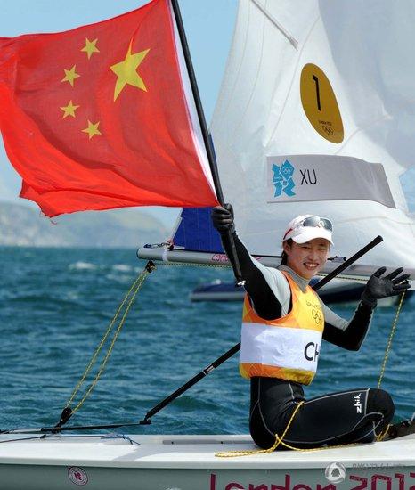 徐莉佳夺中国帆船奥运第二金 突破性堪比刘翔