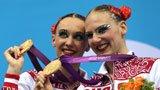 伦敦奥运第186金 花样游泳双人自选 俄罗斯队