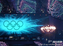 奥运会五环和火炬