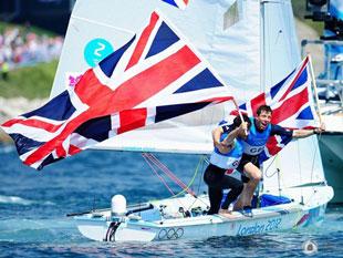 470级双人艇英国庆祝摘银