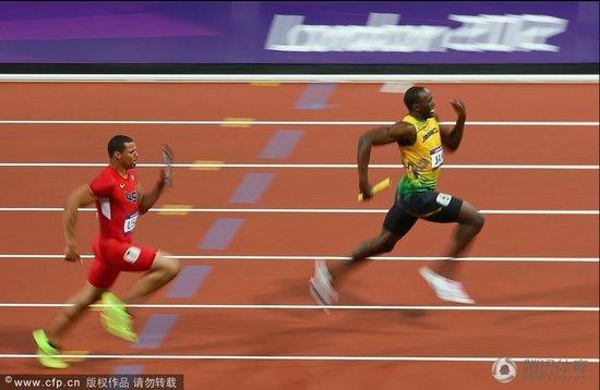 4×100牙买加破世界纪录卫冕 博尔特蝉联三冠