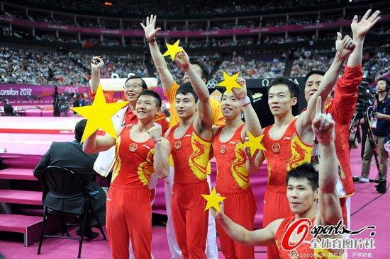 体操男团中国队零失误夺冠 成就奥运会两连冠