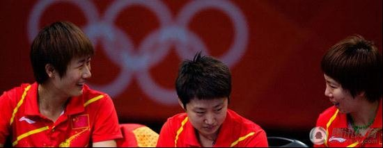 Photo of Ding Ning & her friend tennis player  Li Xiaoxia - China