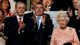 女王登台宣布开幕