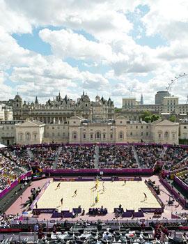 奥运沙排比赛360全景图