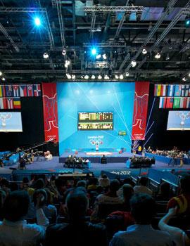 奥运举重比赛360全景图