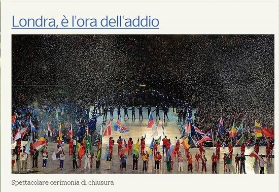 意晚邮报:伦敦奥运整体成功 三大不足待改善