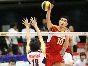 中国男排3-1力挫日本