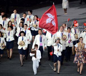奥运开幕式中国香港代表团入场