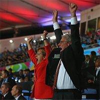 德国1-0阿根廷 德国总统总理高呼庆祝