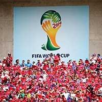 哥斯达黎加球迷将看台装扮成红色海洋
