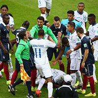 法国洪都拉斯比赛中爆发冲突