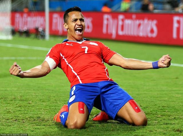 世界杯-智利3-1胜澳大利亚 桑切斯传射建功