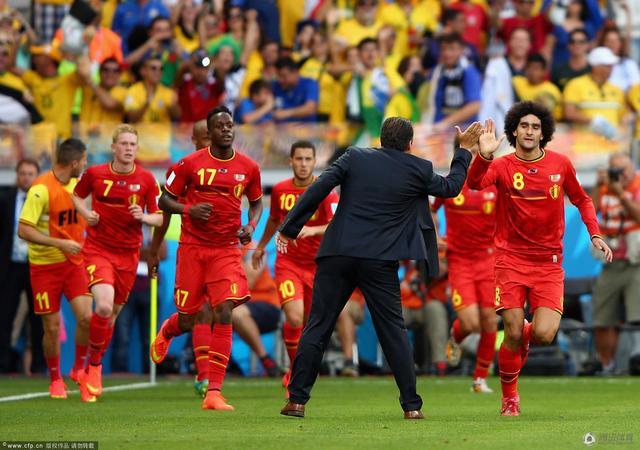 世界杯-比利时2-1阿尔及利亚 费莱尼替补破门