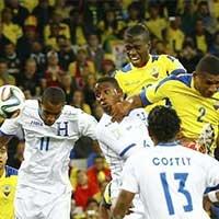 厄瓜多尔巴伦西亚头球破门反超比分