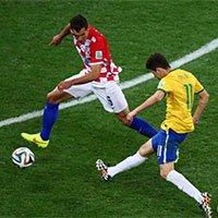 高清:奥斯卡捅射破门助巴西锁定胜局