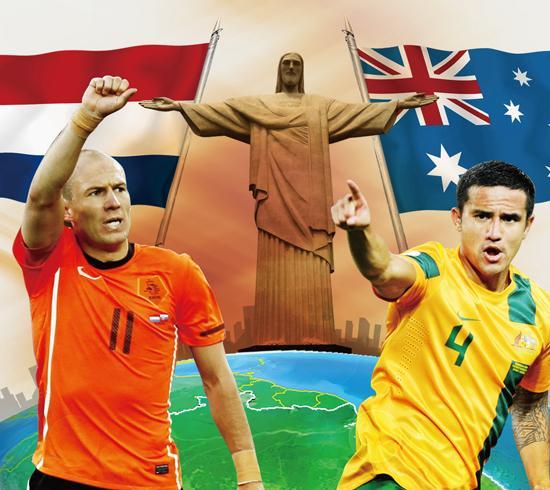 澳大利亚VS荷兰前瞻:卡希尔PK范佩西罗本