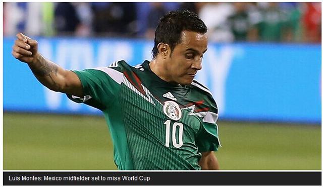 热身赛综述-墨西哥胜厄瓜多尔 大将惨遭断腿