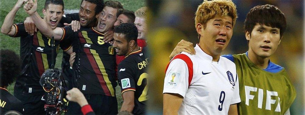 10人比利时1-0韩国晋级16强