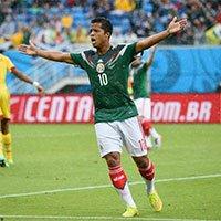 高清:墨西哥多斯-桑托斯首次进球被吹