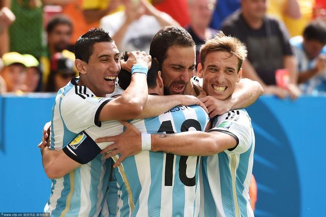 阿根廷1-0比利时 全场进球精彩瞬间(组图)