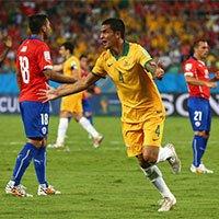 智利3-1澳大利亚 老将卡希尔无力回天