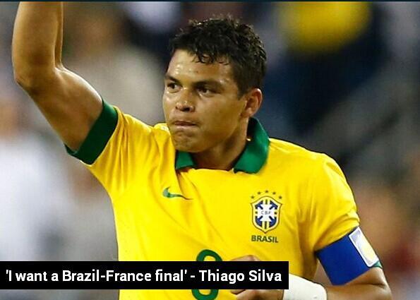 巴西队长:盼决赛对决法国 将复仇98世界杯