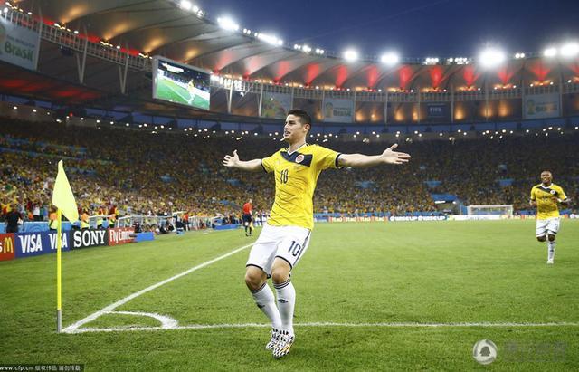 世界杯-哥伦比亚2-0晋级 新星两球超梅西内少