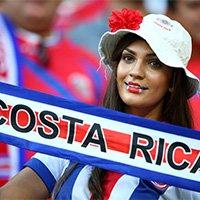 哥斯达黎加美女球迷现场助阵